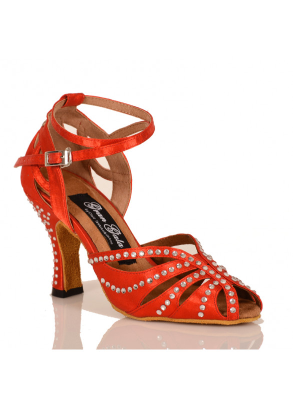 Art Rosso Eh92ywdi Satinato Ballo Cm 1123 Tacco 5 8 Da Sandalo O08Pnwk